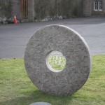 View of the rear of the finished Sundial