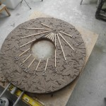 The clay original ready for casting