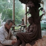 Modelling the Sculpture in clay