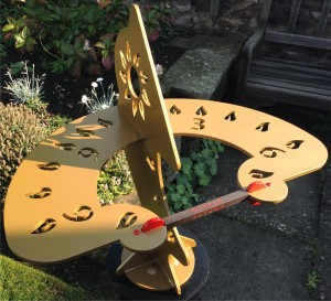 2. DIHELION SUNDIAL IN MORNING SUNSHINE AFTER 8AM by ALASTAIR HUNTER